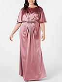olcso Örömanya ruhák-Szűk szabású Ékszer Földig érő Szatén Örömanya ruha val vel Kristály melltű által LAN TING Express