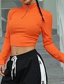 olcso Póló-Női Póló - Egyszínű Narancssárga