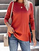 billige Skjorter til damer-T-skjorte Dame - Ensfarget Blå
