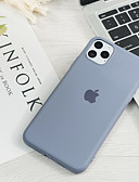 olcso iPhone tokok-Case Kompatibilitás Apple iPhone 11 / iPhone 11 Pro / iPhone 11 Pro Max Ultra-vékeny / Minta Fekete tok Egyszínű Silica Gel
