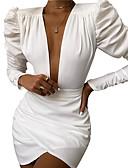 olcso Női ruhák-Női Elegáns Hüvely Ruha Egyszínű Mini