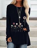 billige Skjorter til damer-T-skjorte Dame - Geometrisk Svart