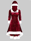Χαμηλού Κόστους Print Dresses-Γυναικεία Πάρτι Τρομπέτα / Γοργόνα Φόρεμα - Συνδυασμός Χρωμάτων Μίντι Ντραπέ