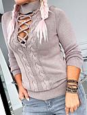 olcso Női pulóverek-Női Egyszínű Hosszú ujj Pulóver Pulóver jumper, Körgallér Ősz / Tél Fehér / Medence / Szürke S / M / L