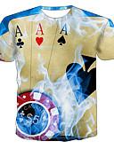 ราคาถูก เสื้อโปโลสำหรับผู้ชาย-สำหรับผู้ชาย เสื้อเชิร์ต 3D สายรุ้ง