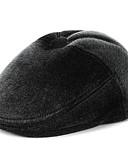 olcso Férfi kalapok, sapkák-Férfi Egyszínű Poliészter,Alap-Széles karimájú kalap Tél Fekete
