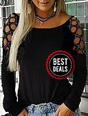 olcso nadrág-Női Póló - Egyszínű Fekete