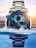 Χαμηλού Κόστους Πολυτελή Ρολόγια-Ανδρικά Αθλητικό Ρολόι Στρατιωτικό Ρολόι Ψηφιακό ρολόι Ψηφιακό Ανοξείδωτο Ατσάλι Μαύρο / Ασημί 30 m Ανθεκτικό στο Νερό Συναγερμός Χρονογράφος Αναλογικό-Ψηφιακό Καθημερινό Μοντέρνα - / Ενας χρόνος