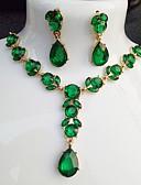 ราคาถูก ชุดเดรสลูกไม้สุดโรแมนติก-สำหรับผู้หญิง ไพลิน Drop Earrings สร้อยคอจี้ สไตล์ Link / Chain Leaf Shape หุ่นทรงชมพู่ สุภาพสตรี Stylish คลาสสิก สง่างาม Everyday เรซิน ต่างหู เครื่องประดับ สีม่วง / สีเขียว / ฟ้า สำหรับ
