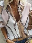 billige Nyheter-Skjorte Dame - Geometrisk Lilla
