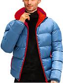 ราคาถูก เสื้อโปโลสำหรับผู้ชาย-สำหรับผู้ชาย สีพื้น ปกติ Padded, POLY / Poly&Cotton Blend ส้ม / สีน้ำเงิน / ทับทิม US32 / UK32 / EU40 / US34 / UK34 / EU42 / US36 / UK36 / EU44