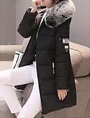 olcso Női hosszú kabátok és parkák-Női Egyszínű Kosaras, Poliészter Fekete / Lóhere / Világoszöld M / L / XL