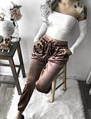 olcso nadrág-Női Alap Pamutszövet nadrág Nadrág - Egyszínű Arany S M L