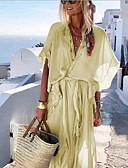 olcso Női ruhák-Női Boho Swing Ruha Egyszínű Maxi