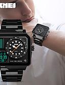 ราคาถูก นาฬิกาข้อมือหรูหรา-SKMEI สำหรับผู้ชาย นาฬิกาแนวสปอร์ต ดิจิตอล กีฬา สแตนเลส ดำ / เงิน / ทอง 30 m กันน้ำ วันที่ อะนาล็อก-ดิจิตอล ไม่เป็นทางการ - สีดำ สีทอง Rose Gold หนึ่งปี อายุการใช้งานแบตเตอรี่