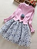 olcso Lány ruhák-Gyerekek Lány Virágos Ruha Arcpír rózsaszín