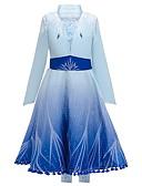 povoljno Haljine za djevojčice-Djeca Djevojčice Color block Haljina Plava