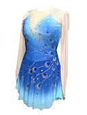 povoljno Klizačke haljine-Haljina za klizanje Žene Djevojčice Korcsolyázás Haljine Ljubičasta Bijela Navy Plava Cvijet Kolaž Spandex Rastezljivo Trening Natjecanje Odjeća za klizanje Ručno izrađen Kolaž Klasika Crystal