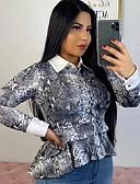 billige Bikinis-Skjorte Dame - Leopard Grå