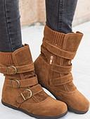 Χαμηλού Κόστους Αντρικές Μπλούζες με Κουκούλα & Φούτερ-Γυναικεία Μπότες Επίπεδο Τακούνι Στρογγυλή Μύτη Πανί Φθινόπωρο Μαύρο / Ανοικτό Καφέ / Κόκκινο
