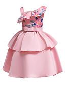 olcso Virágszóró kislány ruhák-A-vonalú Közepes hossz Virágoslány ruha - Szatén / Poli & pamut keverék Ujjatlan Félvállas val vel Csokor / Minta / Illesztés által LAN TING Express