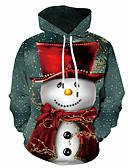 olcso Férfi pólók és pulóverek-Férfi Extra méret Alkalmi / Karácsony Kapucnis felsőrész Színes / 3D Kapucni