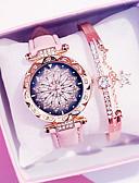 ราคาถูก นาฬิกาข้อมือแฟชั่น-สำหรับผู้หญิง นาฬิกาควอตส์ นาฬิกาอิเล็กทรอนิกส์ (Quartz) PU Leather แดง / น้ำตาล / เขียว โครโนกราฟ น่ารัก ดีไซน์มาใหม่ ระบบอนาล็อก ความหรูหรา มาใหม่ - สีดำ ขาว สีม่วง หนึ่งปี อายุการใช้งานแบตเตอรี่