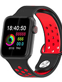 baratos Smart watch-Relógio inteligente Digital Estilo Moderno Esportivo Silicone 30 m Impermeável Monitor de Batimento Cardíaco Bluetooth Digital Casual Ao ar Livre - Preto / cinza Preto / Verde Preto / Vermelho