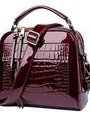 olcso Mini ruhák-Női Cipzár Marhabőr Vállon átvetős táska Tömör szín Fekete / Bor / Fukszia
