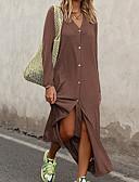 ราคาถูก เมกซิเดรส-สำหรับผู้หญิง เสื้อเชิร์ต แต่งตัว สีพื้น ขนาดใหญ่