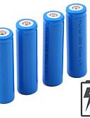 billiga Cocktailklänningar-Li-jon 18650 batteri 5000 mAh 4pcs 3.7 V Uppladdningsbar Bärbar för Ficklampa Bike Light Huvudlampor Camping Jakt Fiske