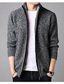 povoljno Majica-Muškarci Jednobojni Dugih rukava Kardigan Džemper od džempera, Ruska kragna Zima Lila-roza / Svijetlosiva / Plava M / L / XL