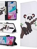 baratos Capinhas para Xiaomi-Capinha Para Xiaomi Xiaomi Redmi 7 / Nota do Redmi 7 / Redmi K20 Carteira / Com Suporte / Flip Capa Proteção Completa Panda PU Leather