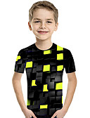 Χαμηλού Κόστους Μοντέρνες Ζώνες-Παιδιά Νήπιο Αγορίστικα Ενεργό Βασικό Γεωμετρικό Στάμπα Συνδυασμός Χρωμάτων Στάμπα Κοντομάνικο Κοντομάνικο Βυσσινί