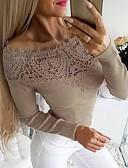 olcso Blúz-Női Póló - Egyszínű Fekete