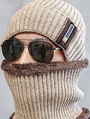 Χαμηλού Κόστους Men's Hats-Ανδρικά Μονόχρωμο Βασικό Πολυεστέρας Καπέλο σκι Μαύρο Βαθυγάλαζο Γκρίζο