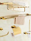 billiga Aftonklänningar-Badrumstillbehörsset Modern Stil Mässing 5pcs - Hotellbad Toalettpappershållare / torn bar / torn ring Väggmonterad