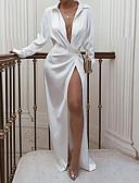 baratos Vestidos de Festa-Mulheres Bainha Vestido Sólido Longo