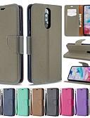 baratos Capinhas para Xiaomi-Capinha Para Xiaomi Xiaomi Redmi 7 / Nota do Redmi 7 / Redmi K20 Carteira / Porta-Cartão / Com Suporte Capa Proteção Completa Sólido PU Leather