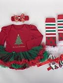 povoljno Kompletići za bebe-Dijete Djevojčice Ulični šik Color block Dugih rukava Regularna Komplet odjeće Red