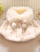 baratos Casacos para Bebês-bebê Para Meninas Temática Asiática Estampado Detalhes em Pêlo / Cordões Padrão Capa & Casaco Duvet Branco