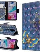 baratos Capinhas para Xiaomi-Capinha Para Xiaomi Xiaomi Redmi 7 / Nota do Redmi 7 / Redmi K20 Carteira / Com Suporte / Flip Capa Proteção Completa Borboleta PU Leather
