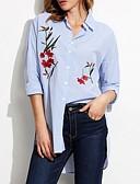 billige Jumpsuits og sparkebukser til damer-Skjorte Dame - Blomstret Blå