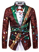 billige Herreskjorter-Skjorte Herre - Grafisk Vin