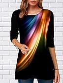povoljno Majica-Majica s rukavima Žene Dnevno Geometrijski oblici Crn