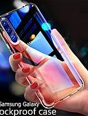 billige Samsung-tilbehør-etui til a90 / a80 / a70 / a60 / a50 / a40 / a30 / a20e / a10 / m10 / m20 / m30 støtsikkert / ultratynt bakdeksel gjennomsiktig tpu