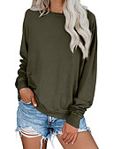 cheap Women's Blouses-Women's Casual Sweatshirt - Solid Colored Black S