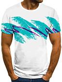 Χαμηλού Κόστους Ψηφιακά Ρολόγια-Ανδρικά T-shirt Κομψό στυλ street / Εξωγκωμένος 3D / Γραφική / Γράμμα Πλισέ / Στάμπα Θαλασσί