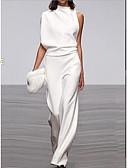 billige Todelt dress til damer-Dame Svart Hvit Fuksia Kjeledresser, Ensfarget M L XL