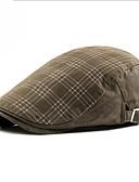 olcso Férfi kalapok, sapkák-Férfi Uniszex Egyszínű Poliészter,Alap-Svájcisapka Ősz Fekete Fehér Katonai zöld